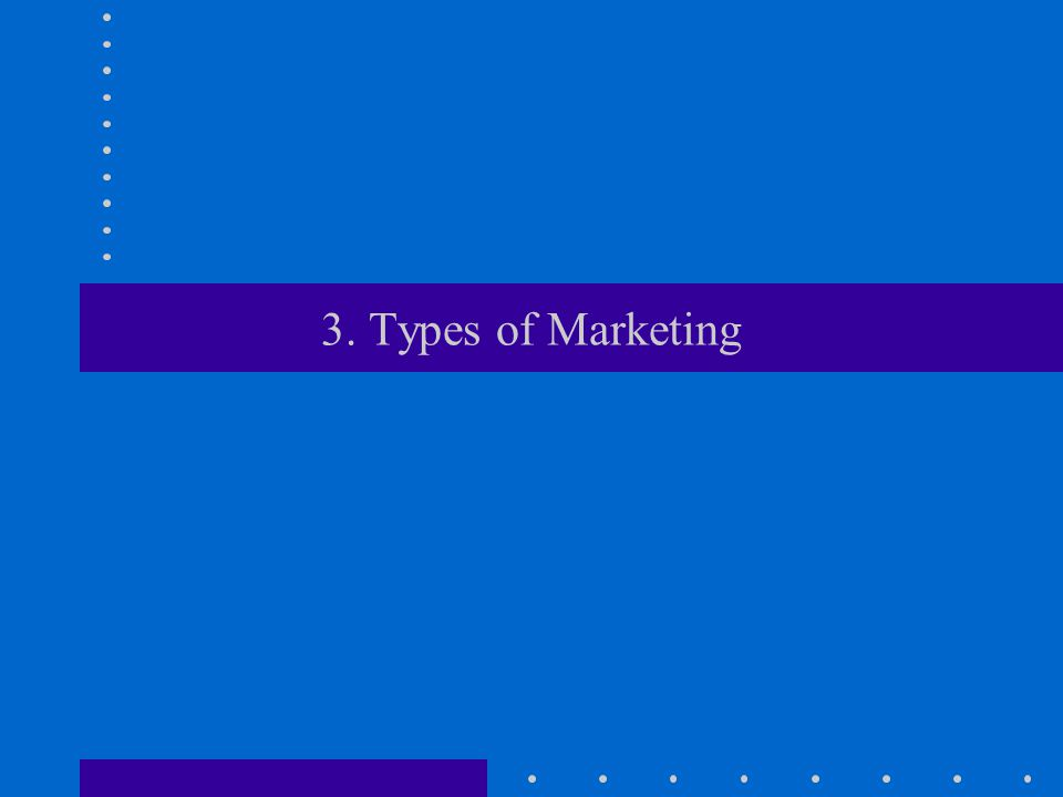 3. Types of Marketing