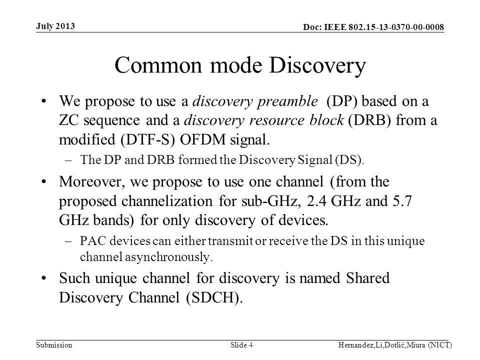 Doc: IEEE 802.15-13-0370-00-0008 Submission Discovery range July 2013 Hernandez,Li,Dotlić,Miura (NICT)Slide 15