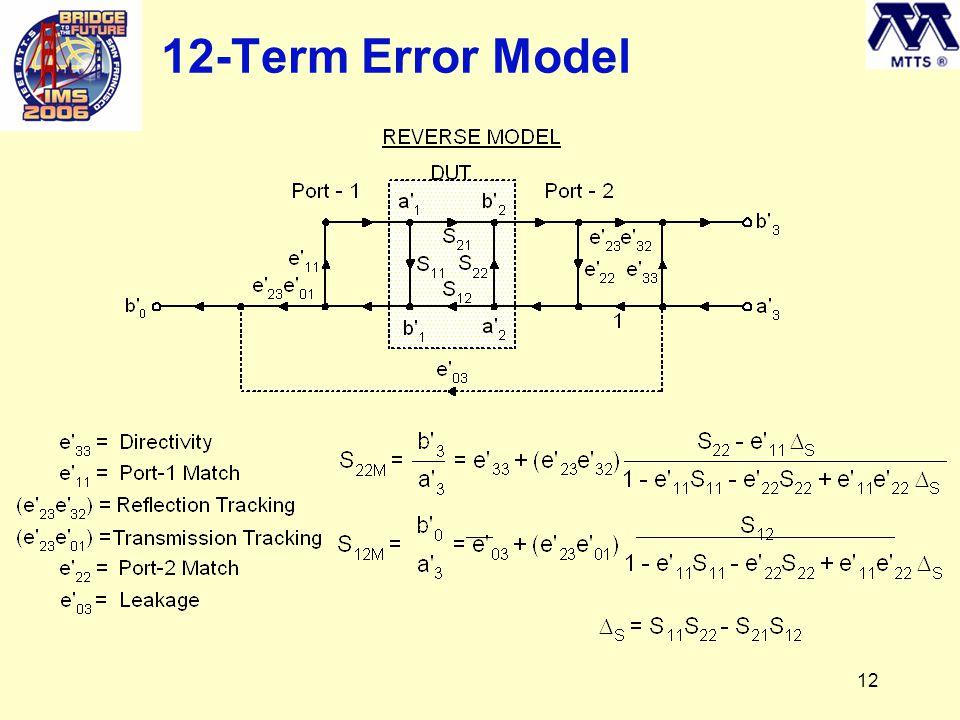 12 12-Term Error Model