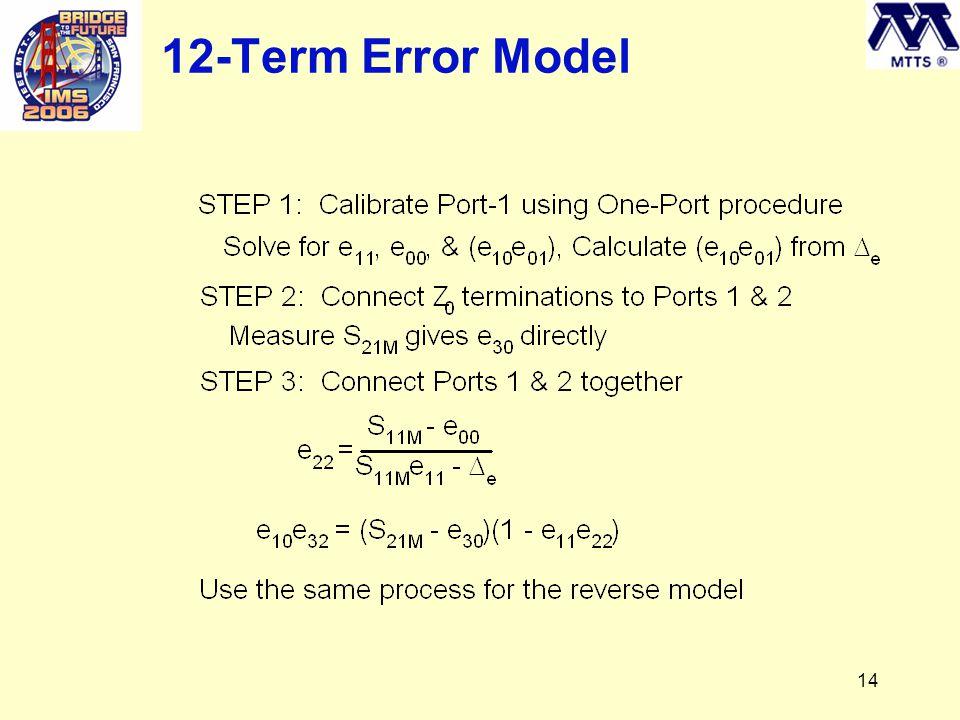 14 12-Term Error Model