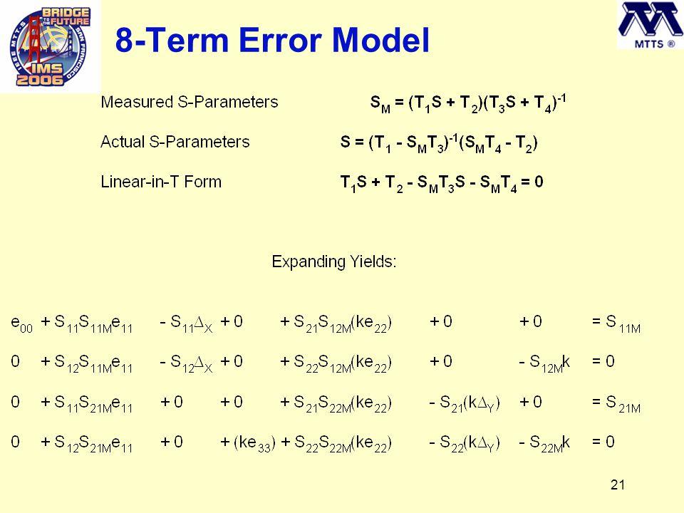 21 8-Term Error Model