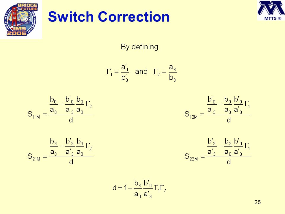 25 Switch Correction