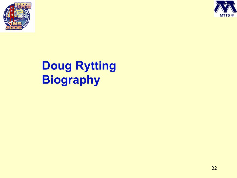 32 Doug Rytting Biography