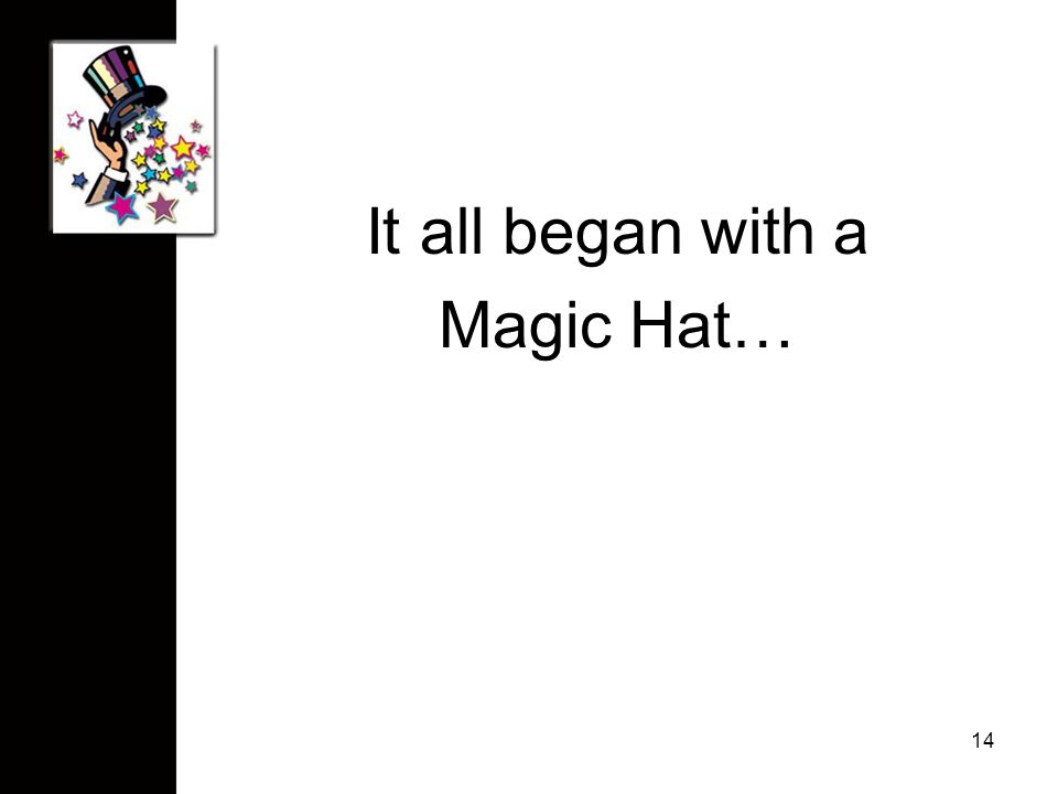 It all began with a Magic Hat… 14