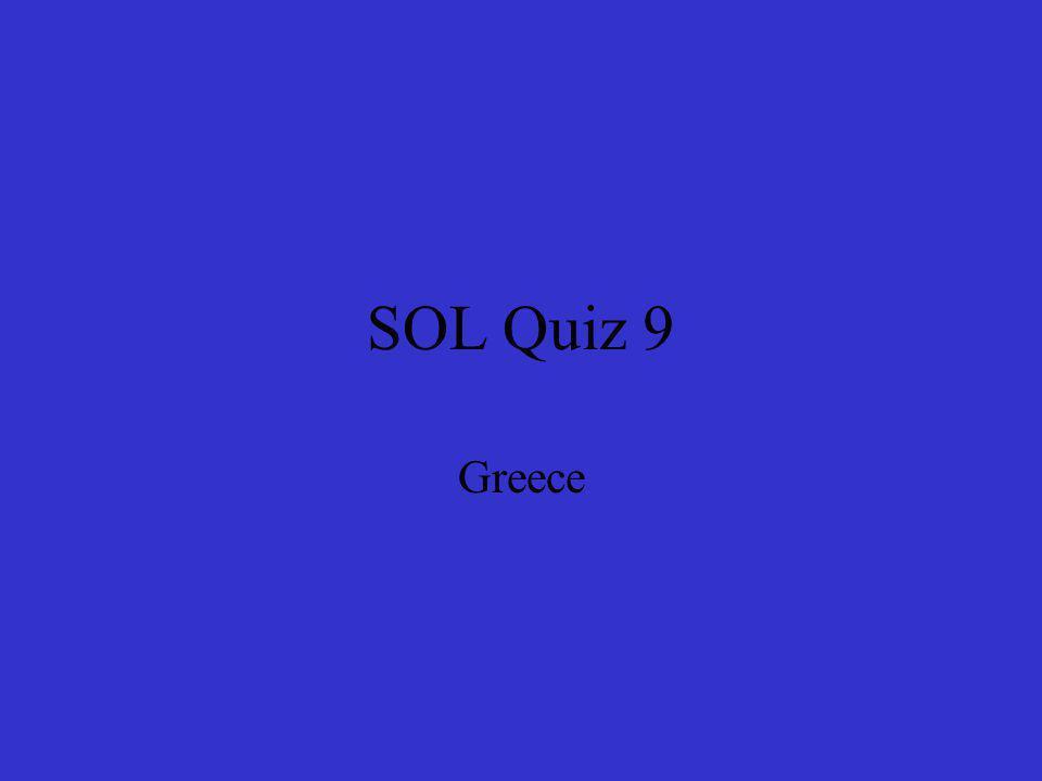 SOL Quiz 9 Greece