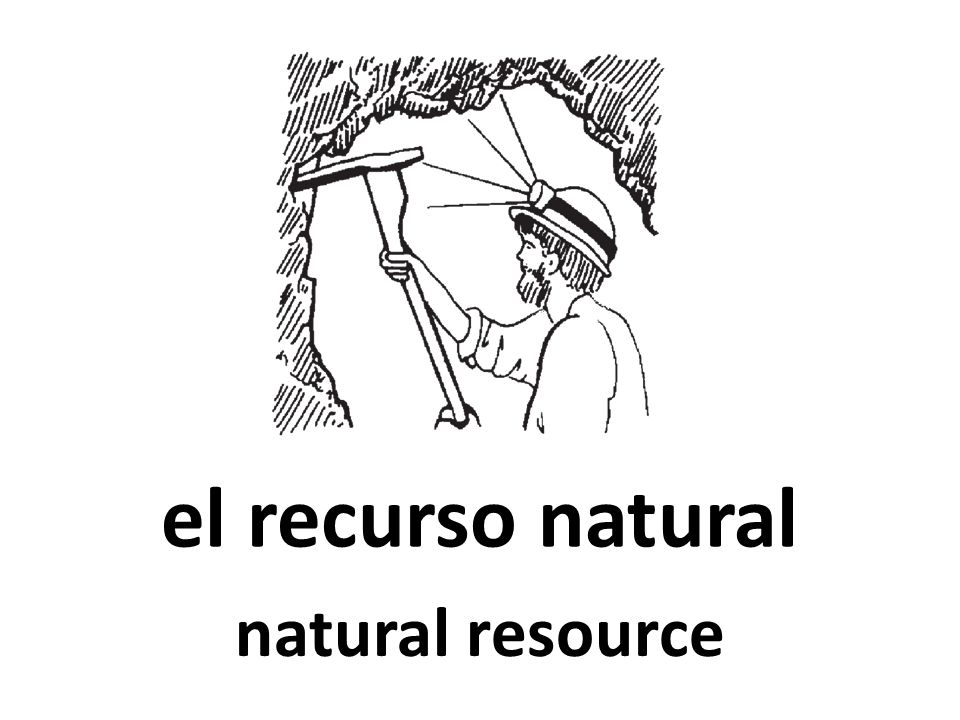 el recurso natural natural resource