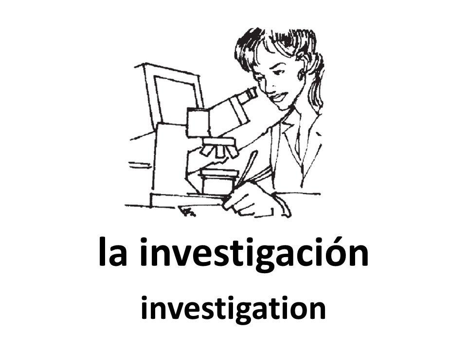 la investigación investigation