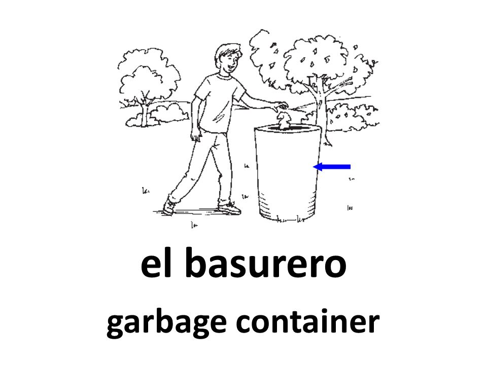 el basurero garbage container