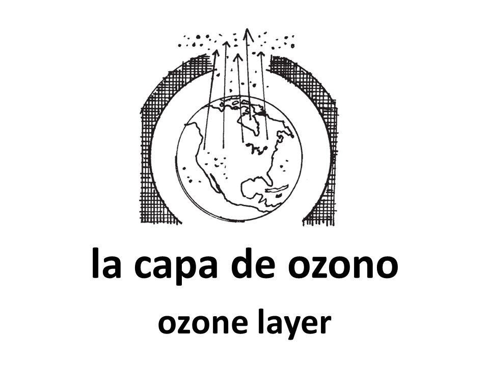 la capa de ozono ozone layer