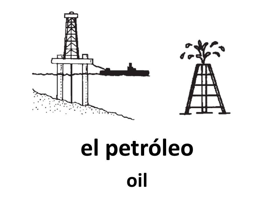 el petróleo oil