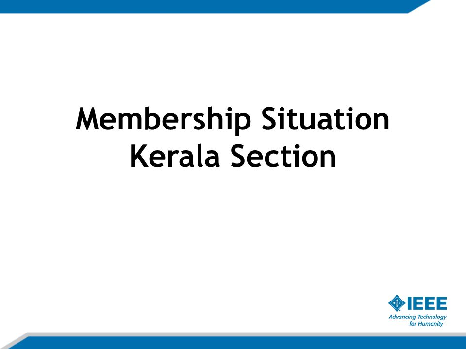 Membership Situation Kerala Section