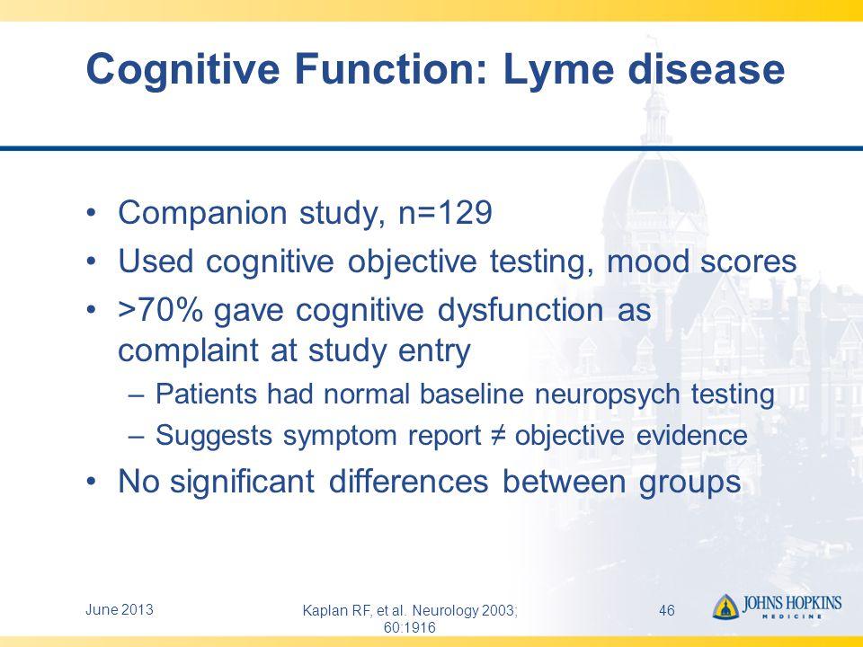 RCT Scorecard: Long-term Antibiotics and persistent symptoms after Lyme disease treatment Long-term abx v.