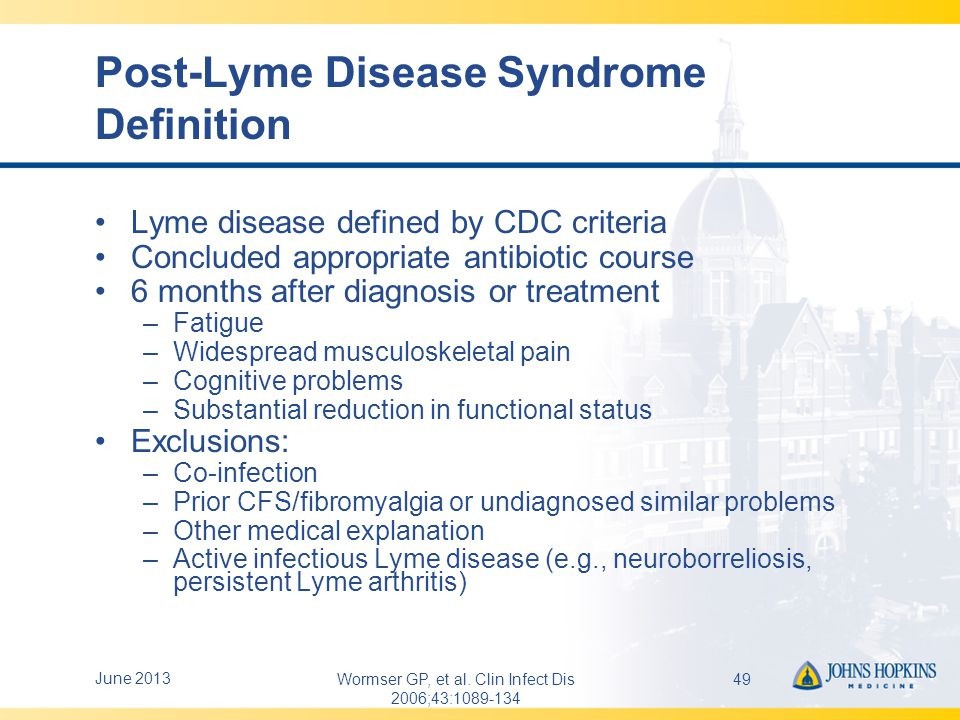 Case Presentation #2  41F resident of Maryland's Eastern Shore  Ovoid rash R upper thigh late June with fever, headache, myalgia – resolved in 2-3 days  July 4: Onset of L facial palsy, otherwise well  Lyme serology negative  Doxycyline given, improved within 48h  Now worried about co-infections June 201350