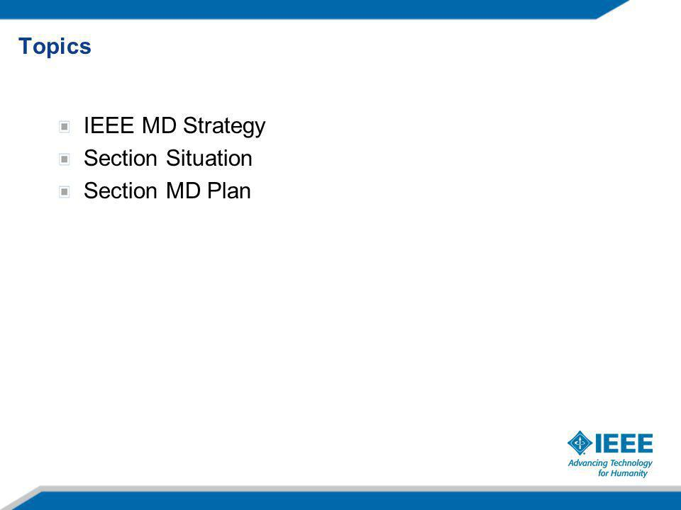 IEEE MD Strategy Section Situation Section MD Plan Topics