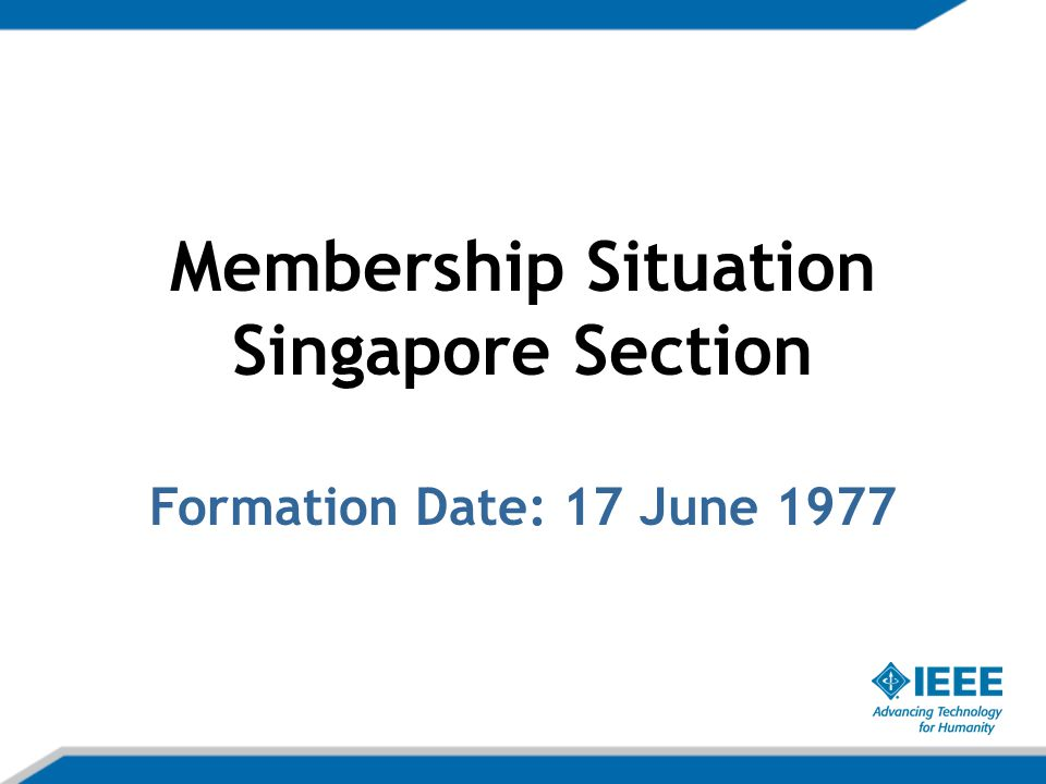 Singapore Section Total Members Since Year 2000