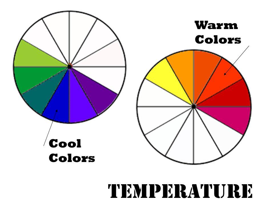 Warm Colors Cool Colors Temperature