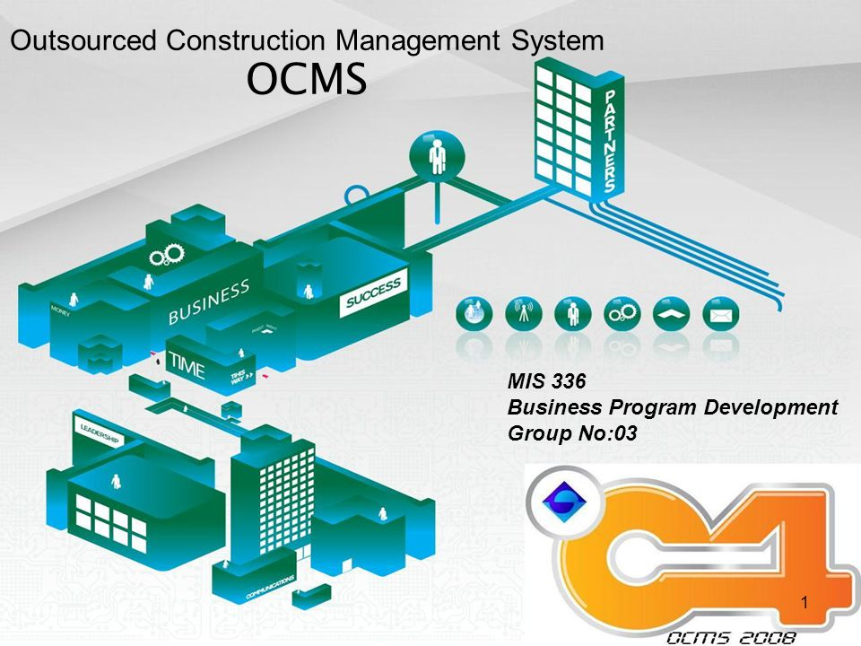 1 MIS 336 Business Program Development Group No:03 Outsourced Construction Management System OCMS