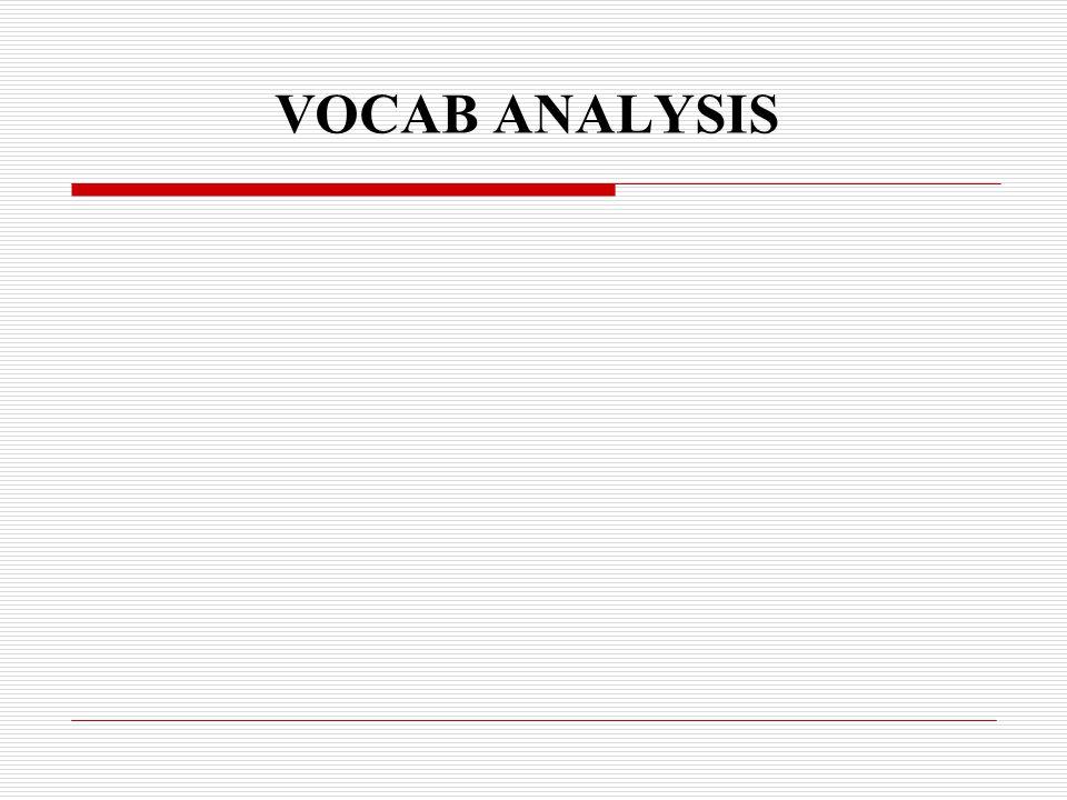 VOCAB ANALYSIS