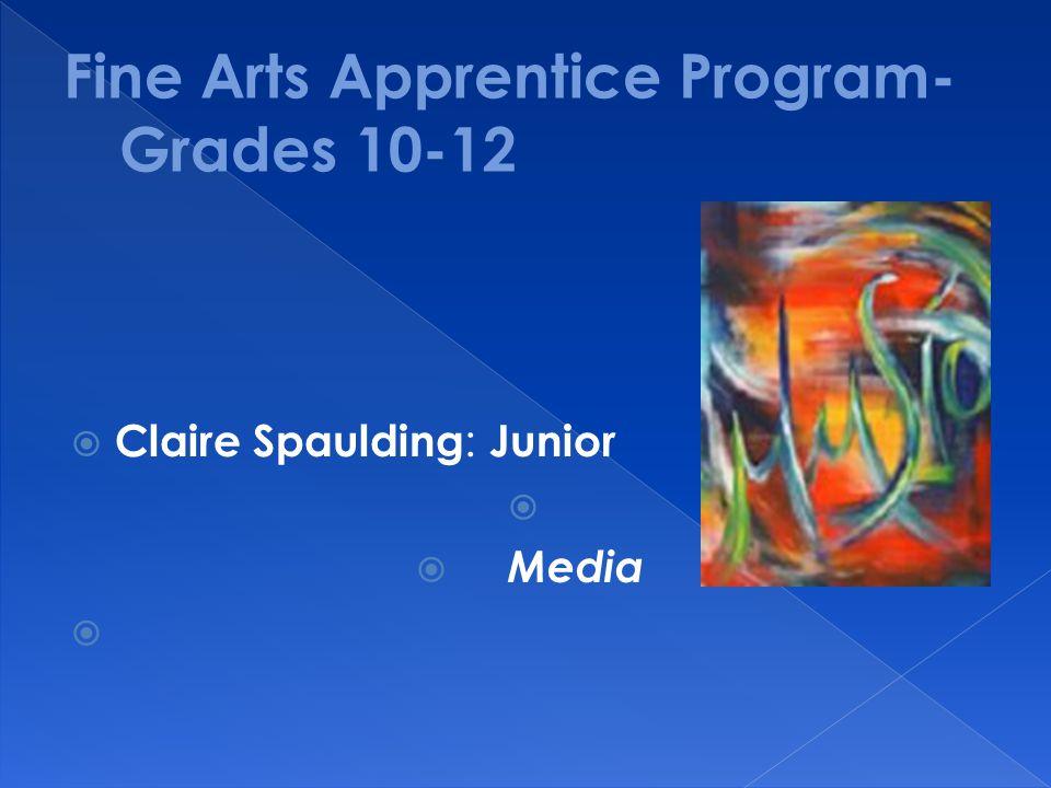  Claire Spaulding : Junior   Media 