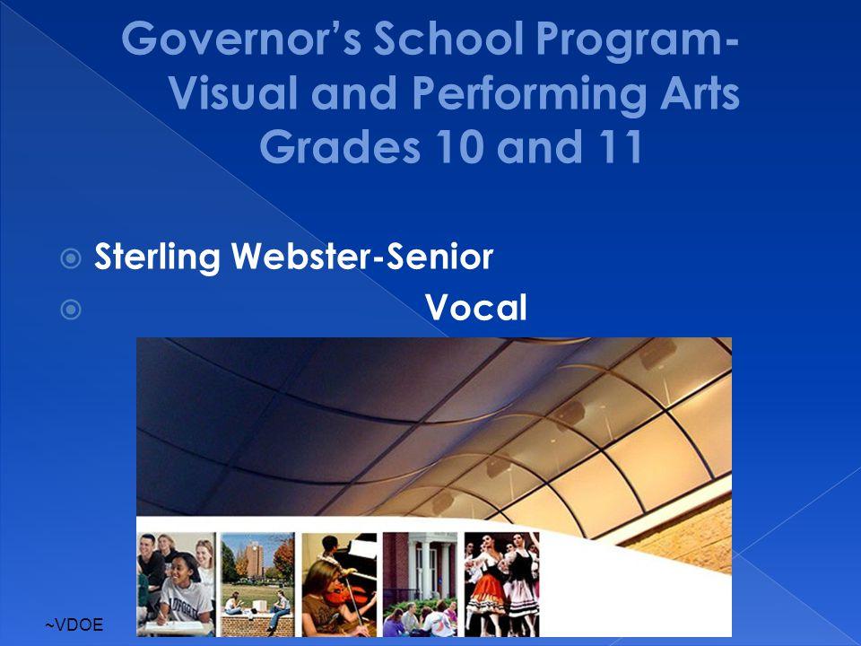  Sterling Webster-Senior  Vocal ~VDOE