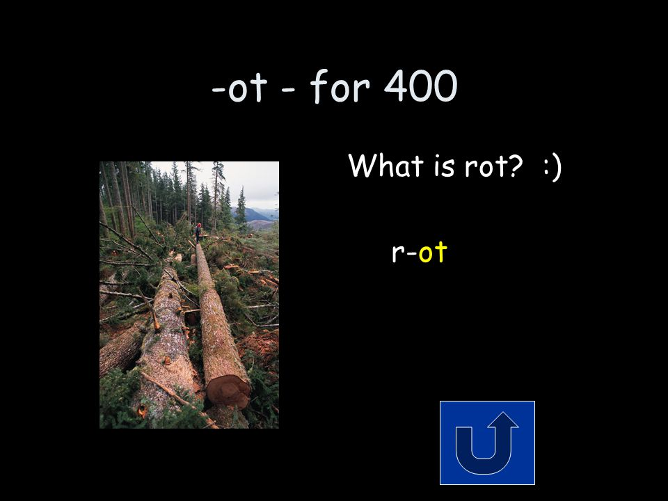 -ot - for 400 Its what happens to a dead tree. Remember to phrase your answer in the form of a question!