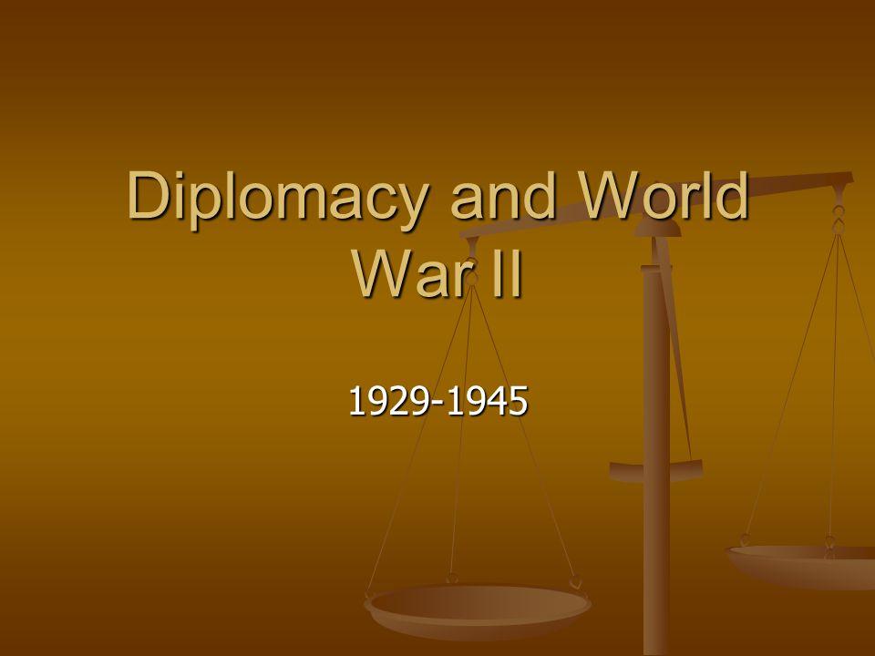 Diplomacy and World War II 1929-1945