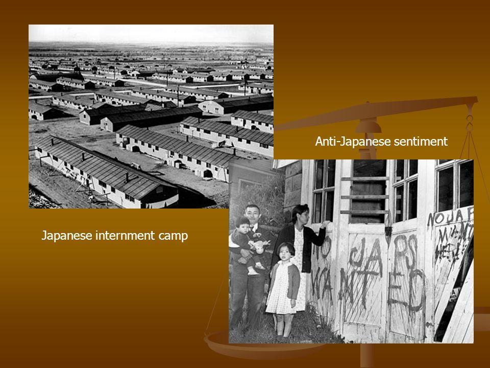 Japanese internment camp Anti-Japanese sentiment
