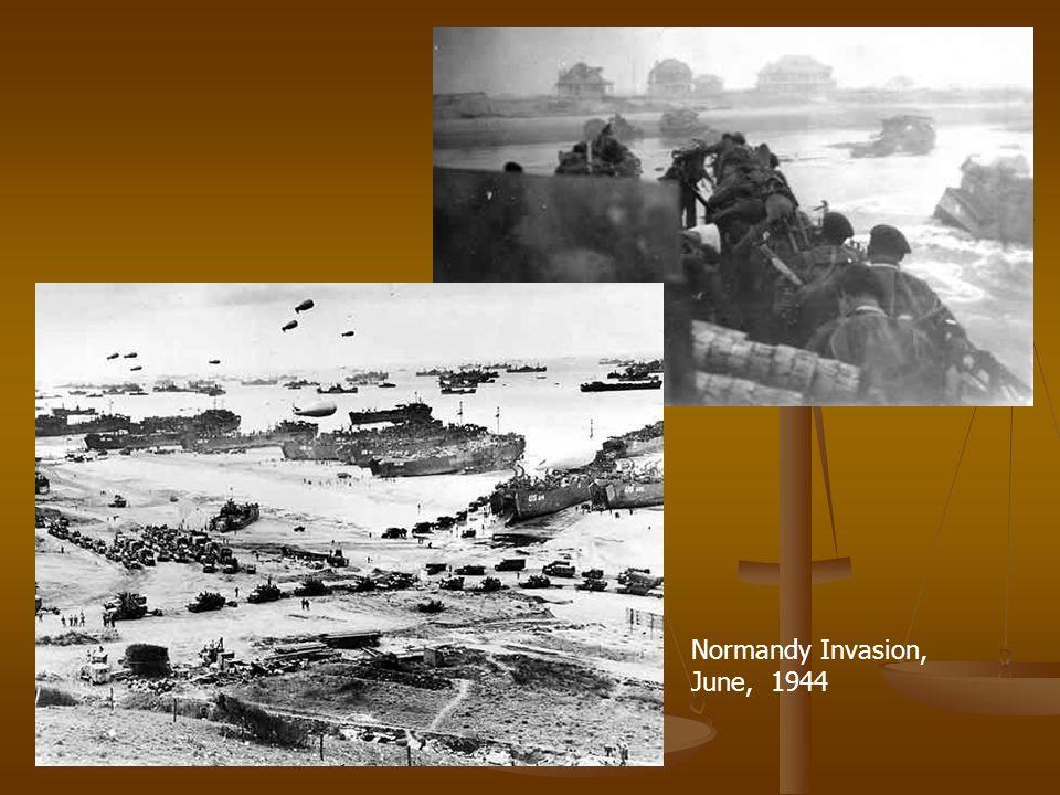Normandy Invasion, June, 1944