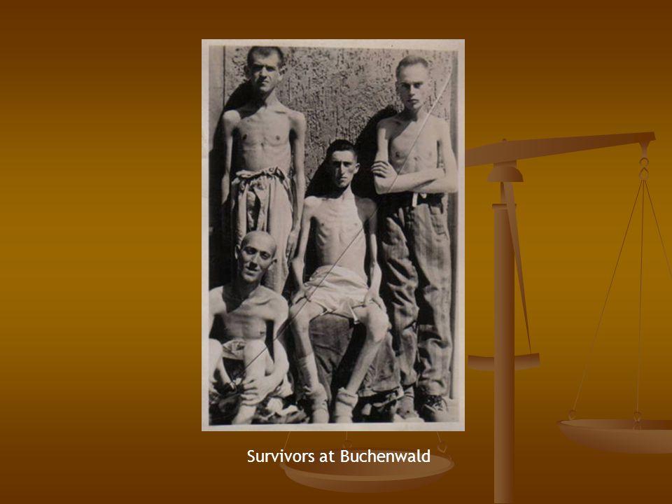 Survivors at Buchenwald