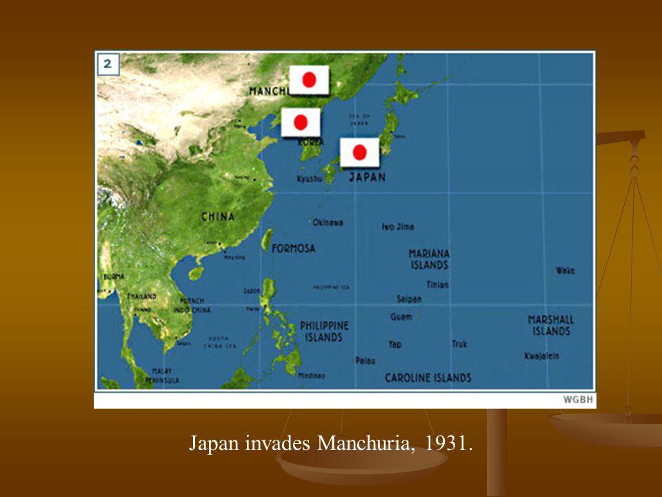 Japan invades Manchuria, 1931.