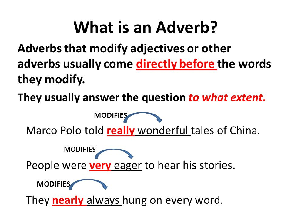 What is an Adverb.