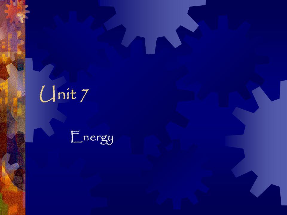 Unit 7 Energy