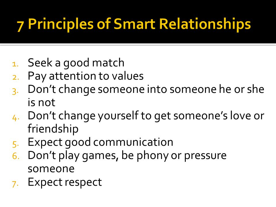 1. Seek a good match 2. Pay attention to values 3.
