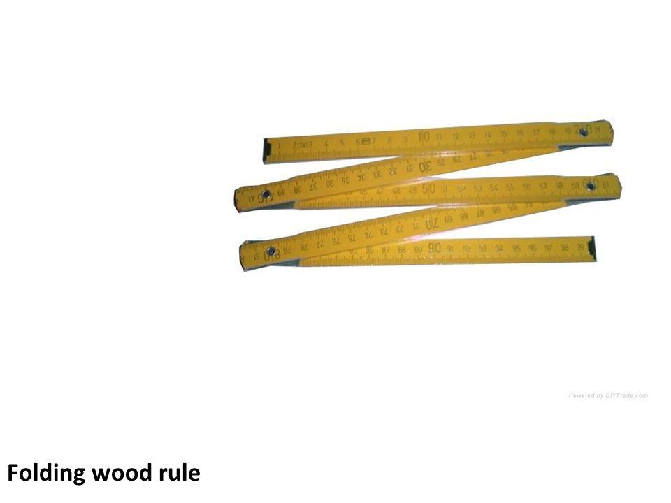 Folding wood rule