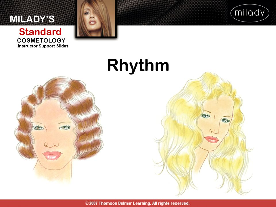 MILADY'S Standard Instructor Support Slides COSMETOLOGY Rhythm