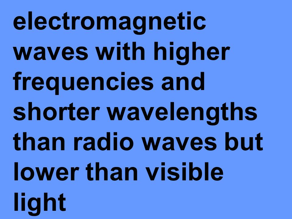 electromagnetic waves with frequencies higher than visible light, but lower than X- rays