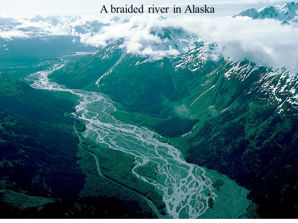 A braided river in Alaska