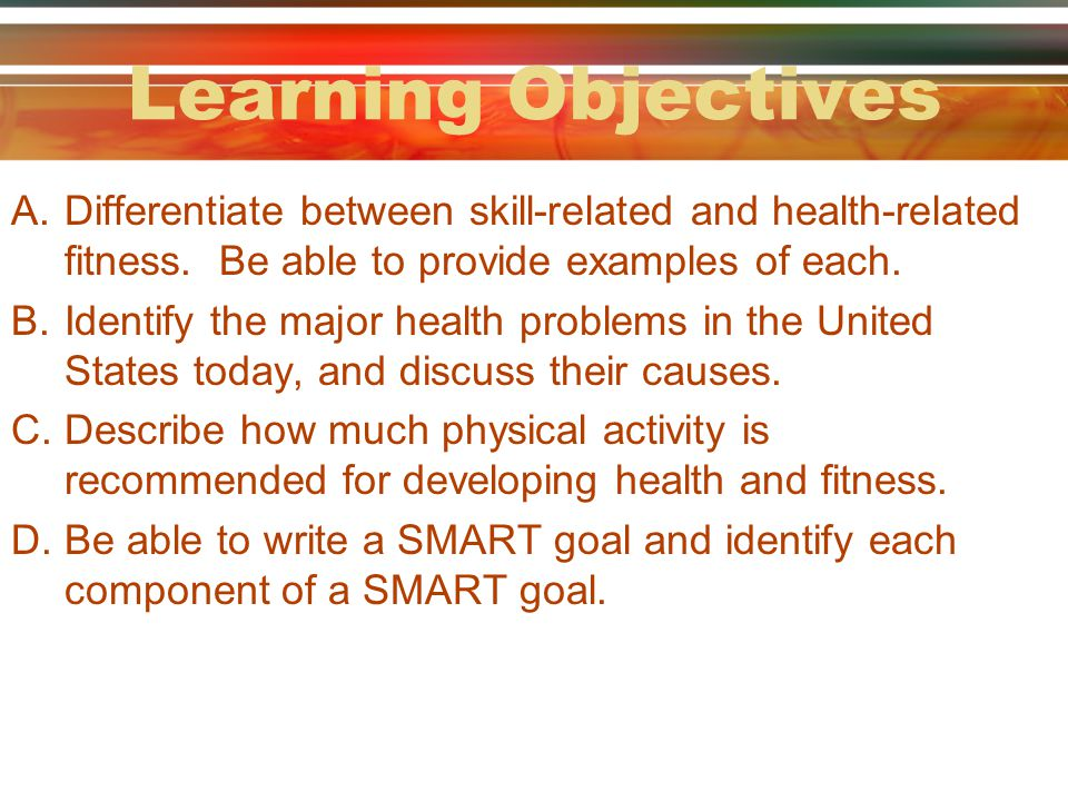 Skill-Related Components of Fitness (pgs.