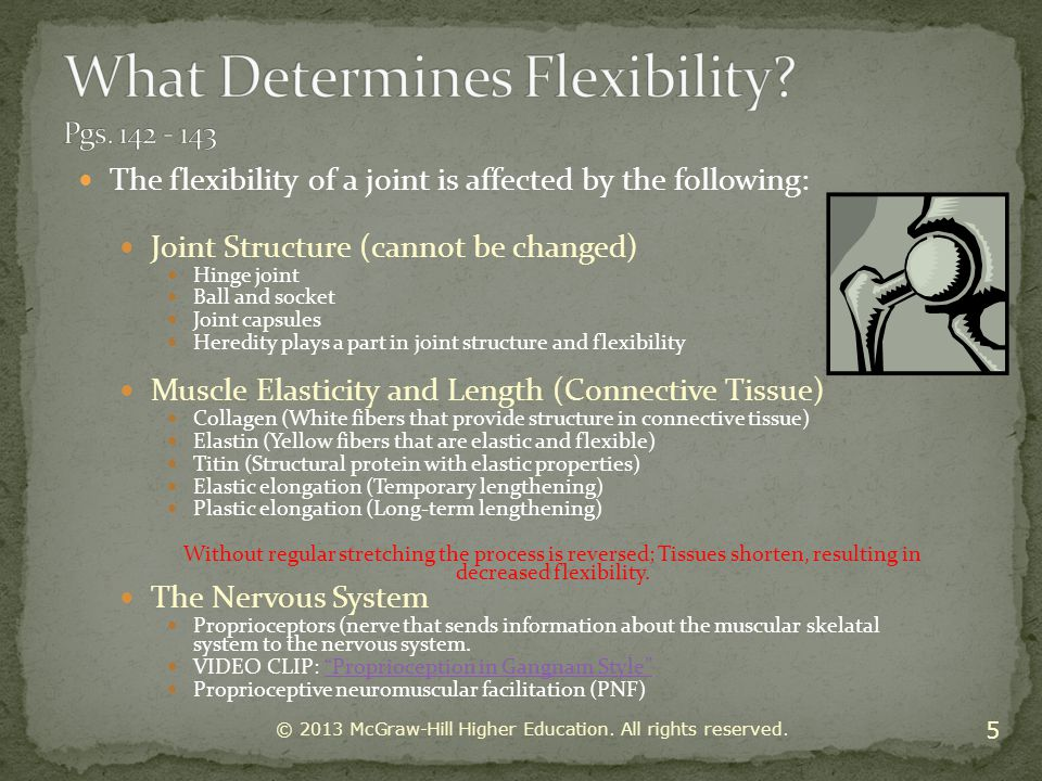 Dynamic stretching is a form of stretching beneficial in sports utilizing momentum from form, static-active stretching strength and the momentum from static-active stretching strength, in an effort to propel the muscle into an extended range of motion not exceeding one s static-passive stretching ability.