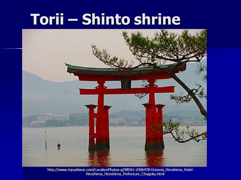 Torii – Shinto shrine http://www.tripadvisor.com/LocationPhotos-g298561-d306478-Granvia_Hiroshima_Hotel- Hiroshima_Hiroshima_Prefecture_Chugoku.html