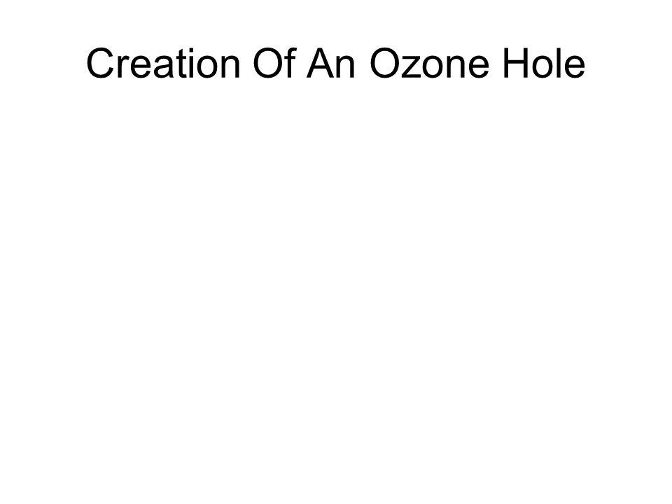 Creation Of An Ozone Hole