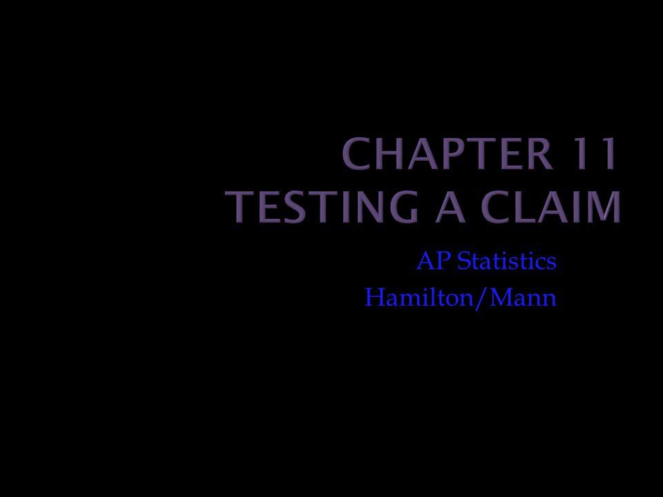 AP Statistics Hamilton/Mann