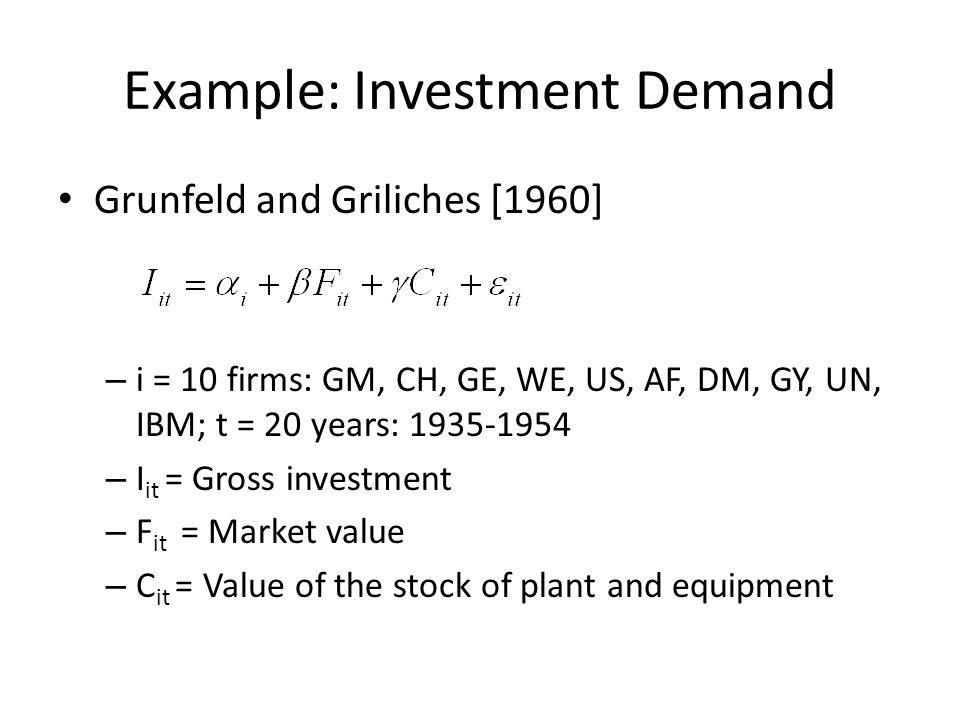 Example: International Comparison of Economic Growth R.
