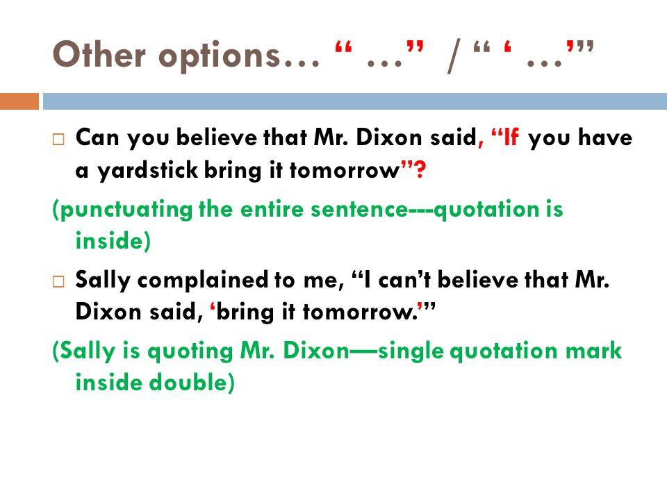 Thursday, October 27 Warm Up Sentence ---Quiz Today!!.