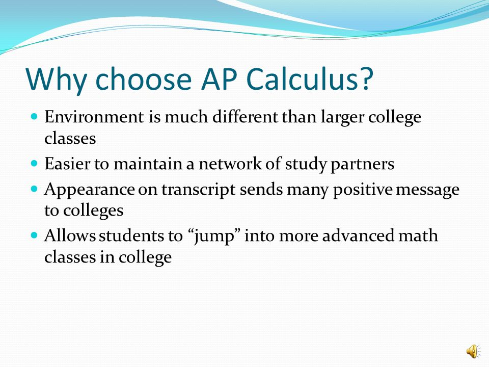 Why choose AP Statistics. My college major requires the course.