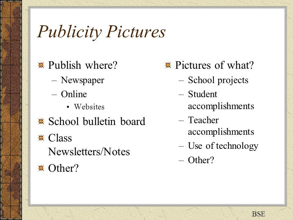 Publicity Pictures Publish where.