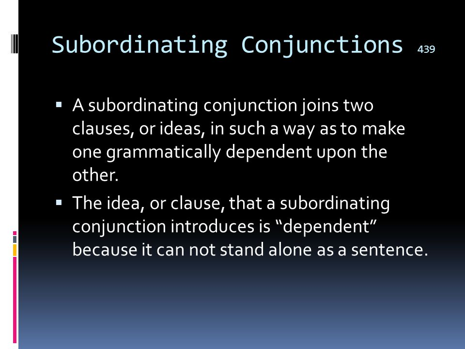Correlative conjunctions 438  Correlative conjunctions work in pairs to join words and groups of words of equal weight in a sentence.  Both she and