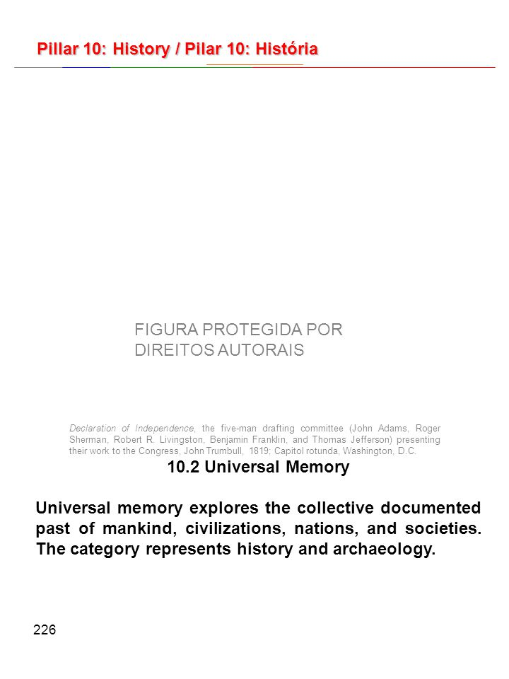226 10.2 Universal Memory Universal memory explores the collective documented past of mankind, civilizations, nations, and societies.