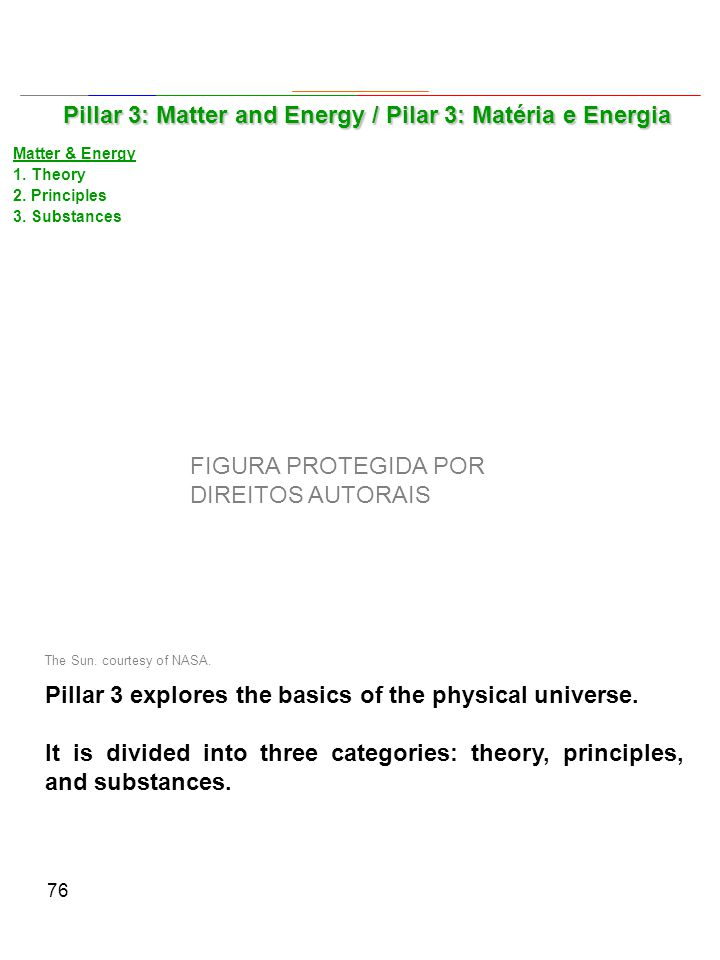 76 Pillar 3 explores the basics of the physical universe.