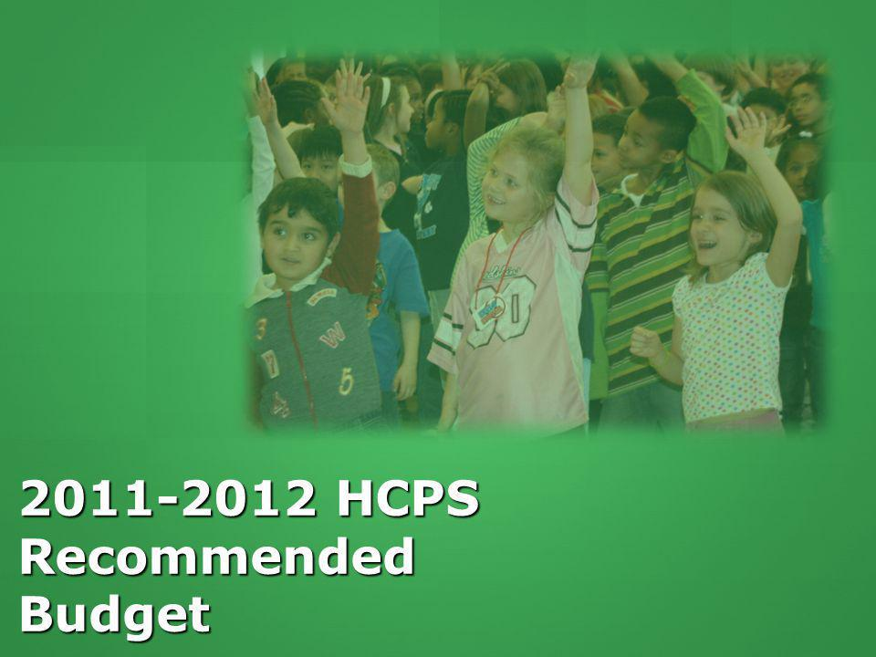 2011-2012 HCPS Recommended Budget